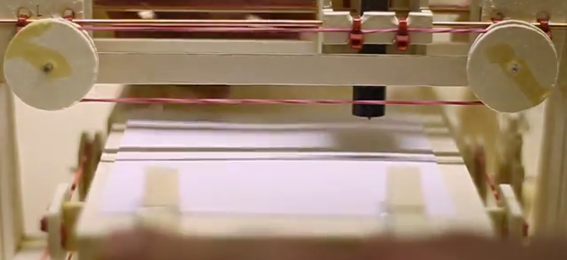 Plotter made out of cardboard.